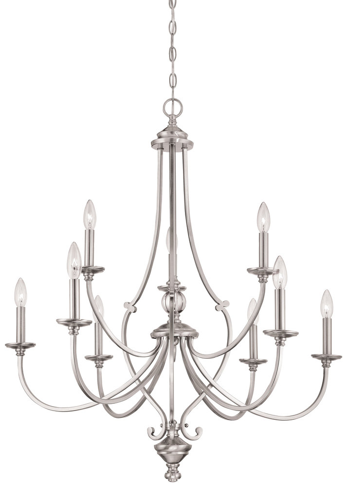 9 Light Chandelier 9jk3p Shanor Royalite Lighting Centers